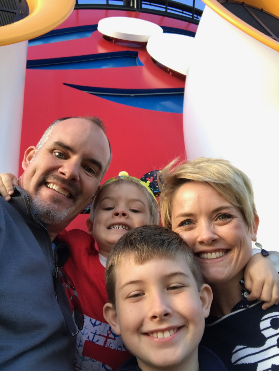 Disney Dream Smokestack Birthday Selfie
