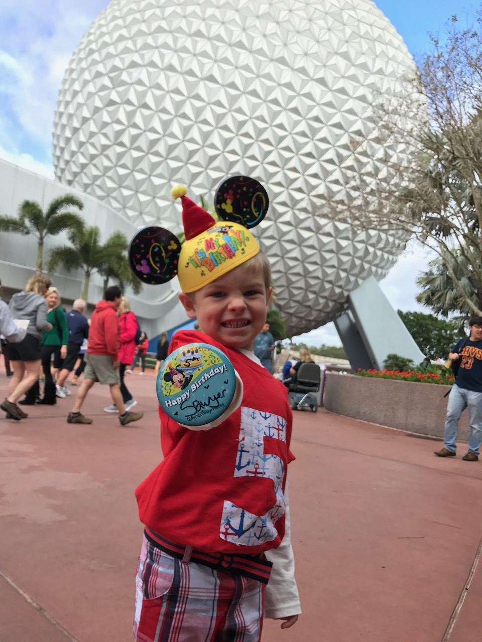 Epcot Spaceship Earth Entrance Birthday Button