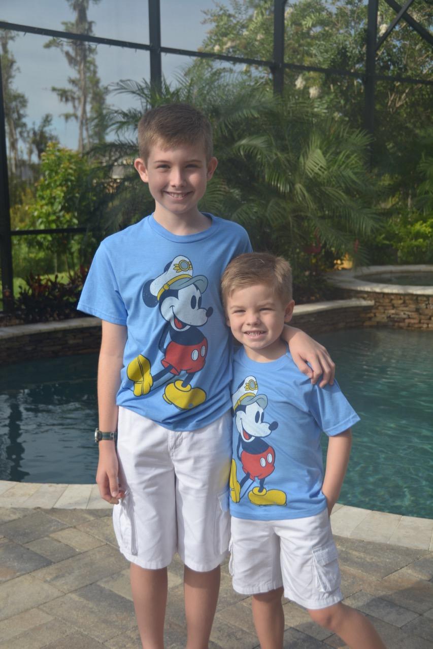 Boys Ready to Cruise on Disney Fantasy