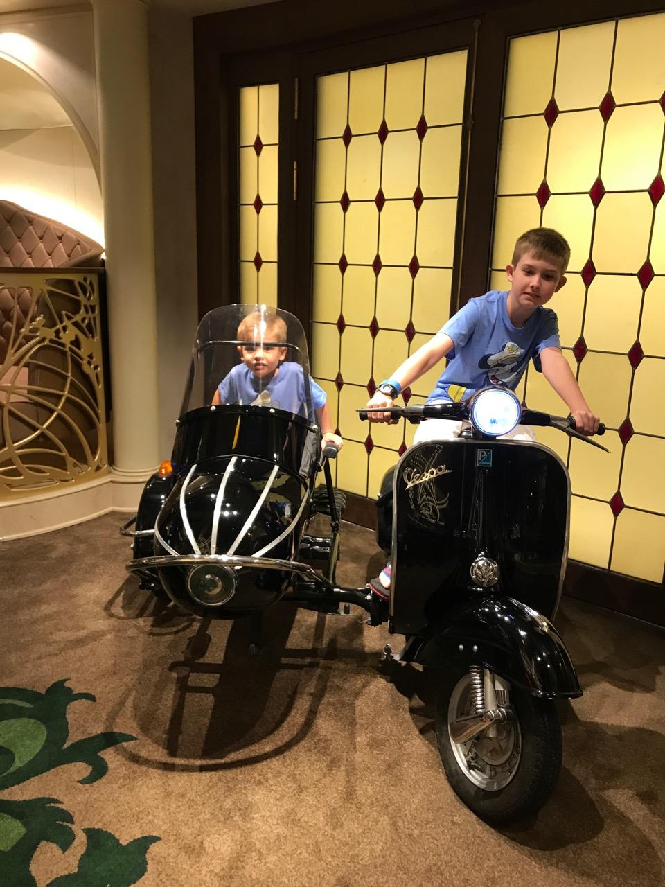 Disney Fantasy La Piazza Motorcycle