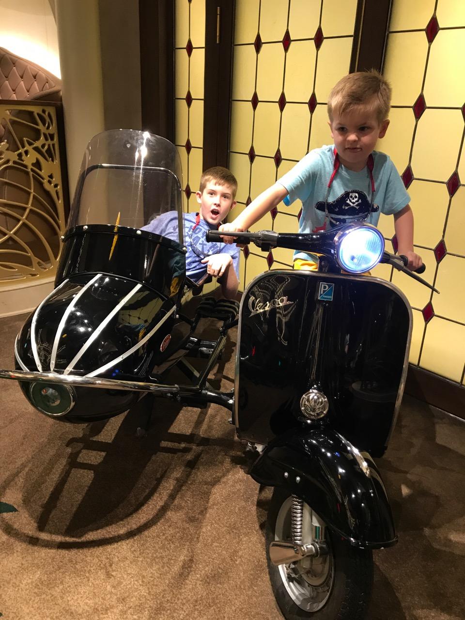 Disney Fantasy Deck Four Motocycle