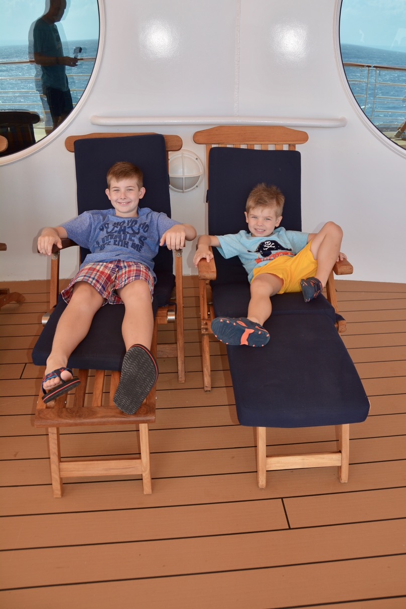 Disney Fantasy Deck Four Outside on Lounge Chairs
