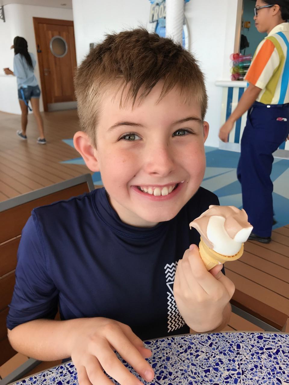 Disney Fantasy Ice Cream Treat