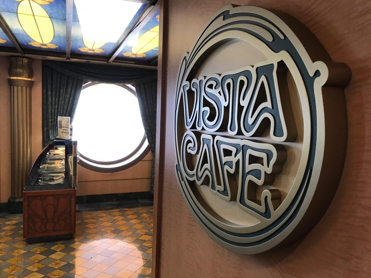 Disney Fantasy Vista Cafe Sign
