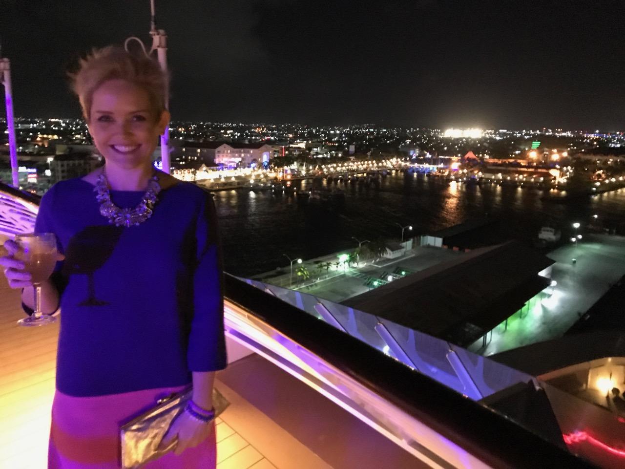 Disney Fantasy - Aruba Port at Night