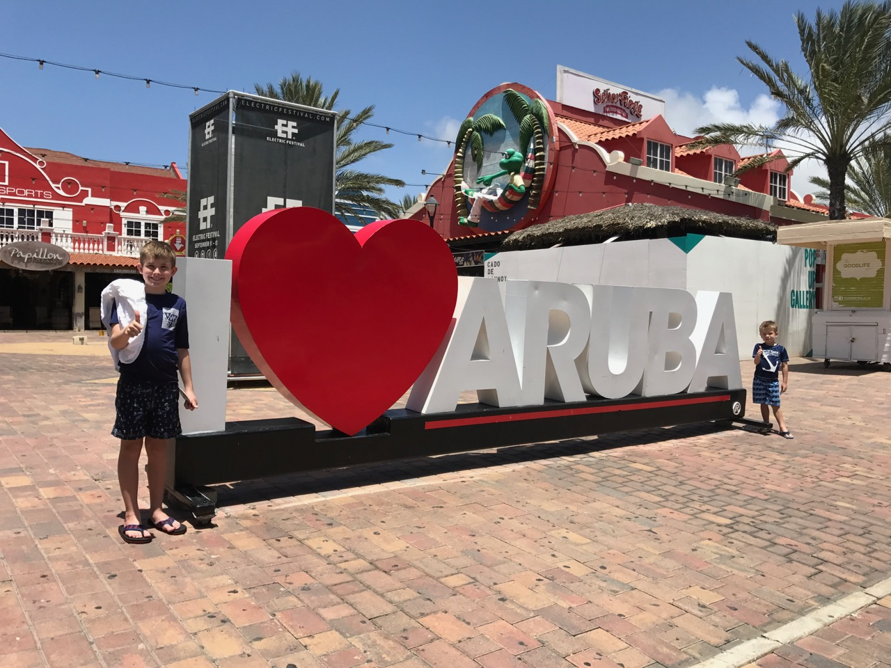 Disney Fantasy - I Love Aruba Sign
