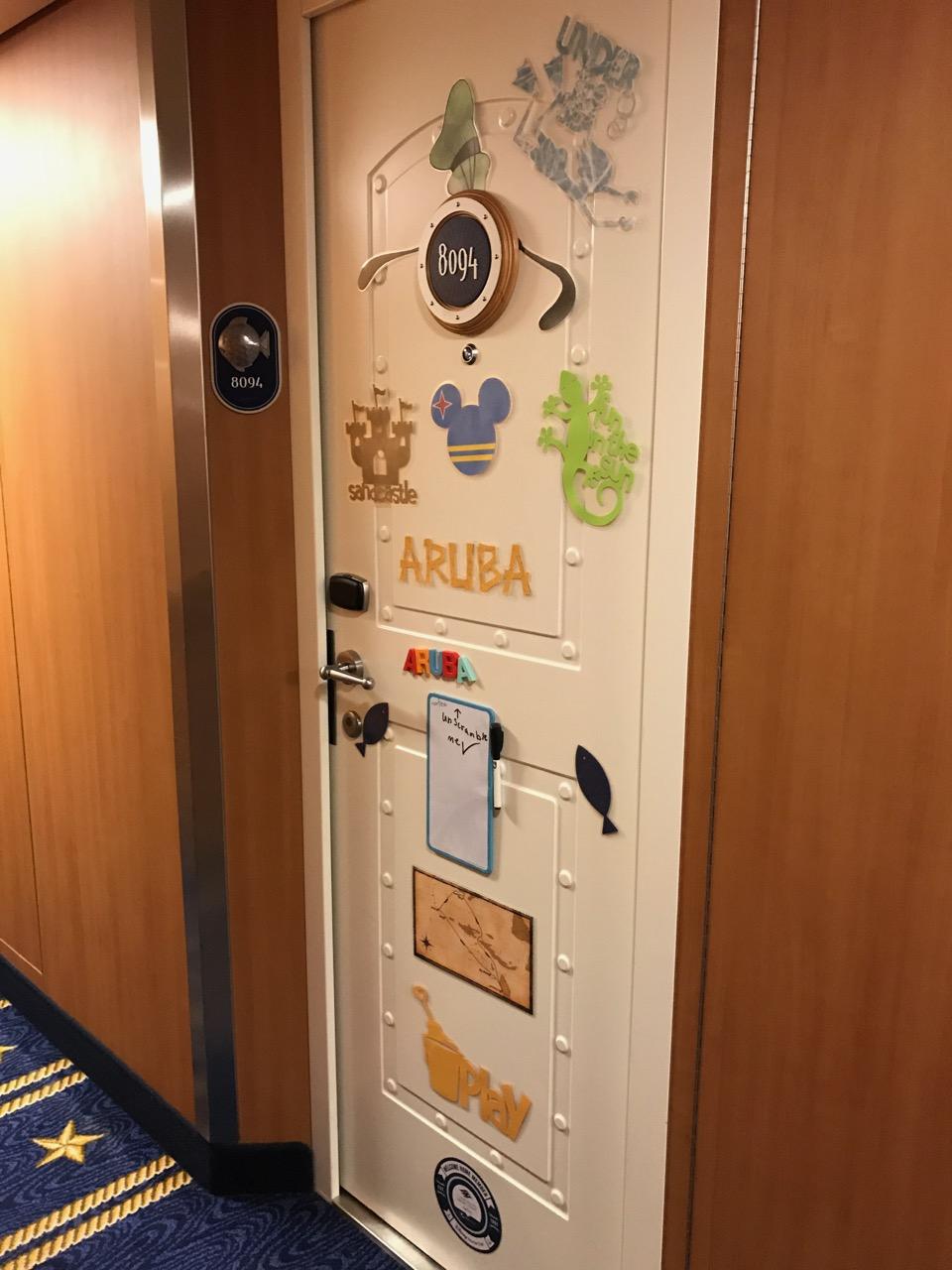 Disney Fantasy - Stateroom Door Decorated for Aruba