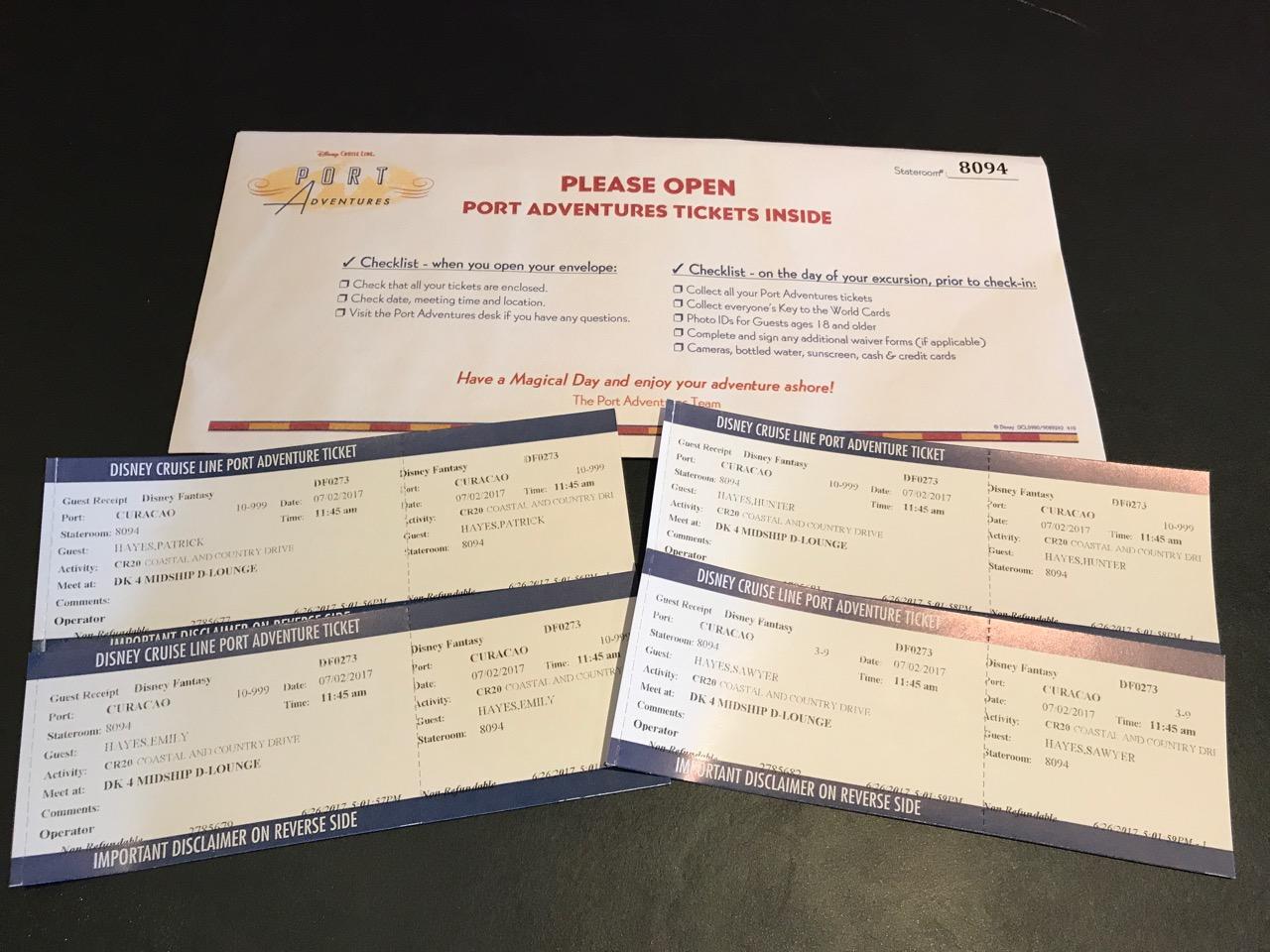 Disney Fantasy Curacao - Port Adventure Tickets