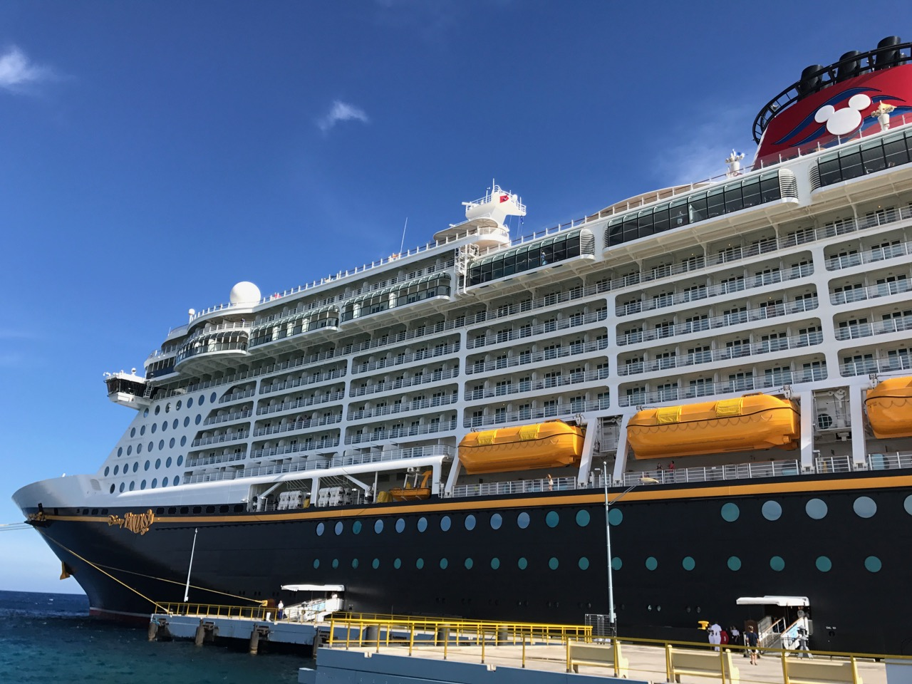 Disney Fantasy Curacao - Ship View From Shore