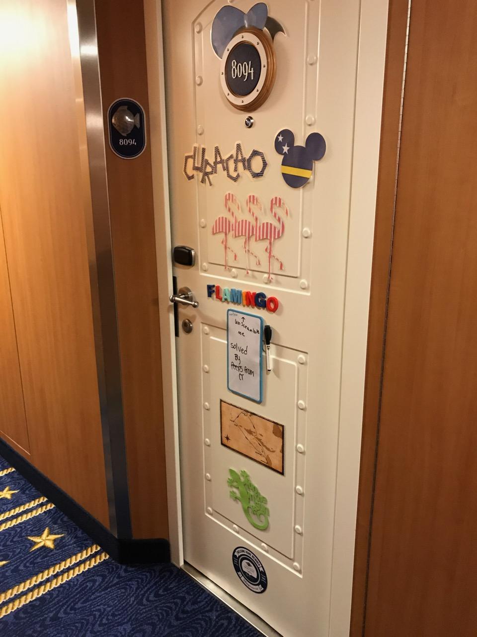 Disney Fantasy Curacao - Stateroom Door Decoration