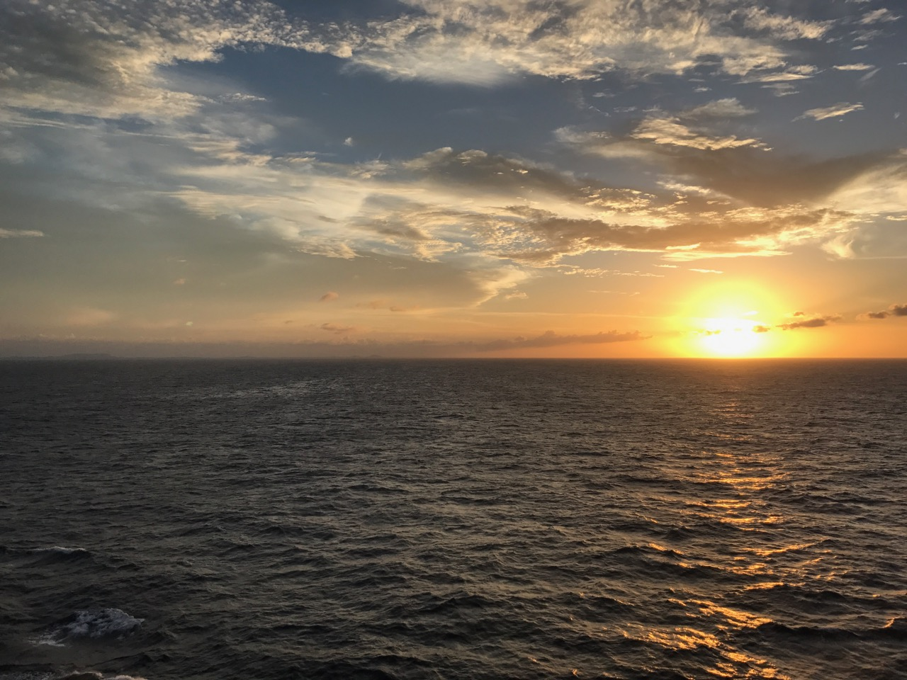 Disney Fantasy Curacao - Sunset Over Ocean