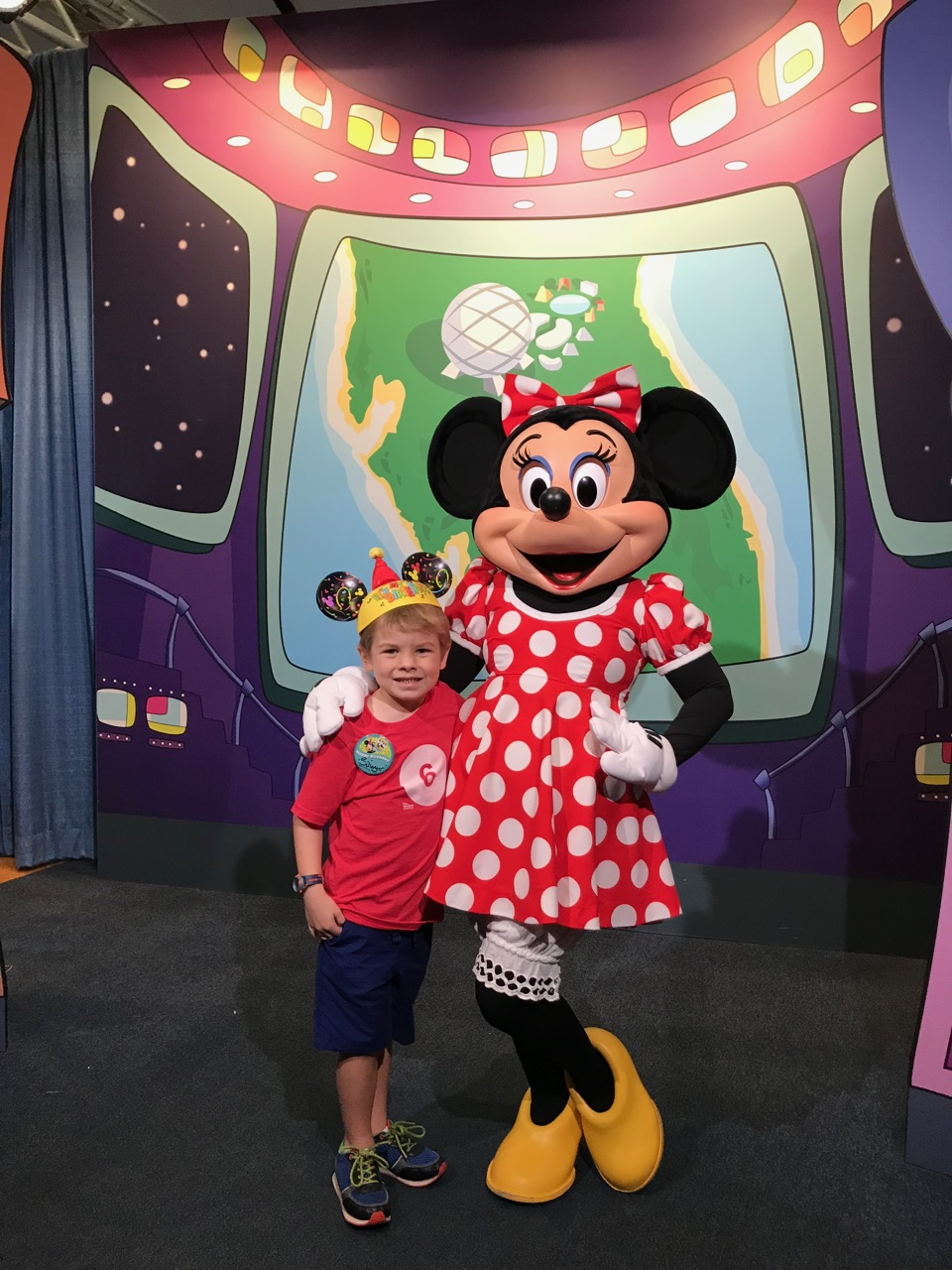Sawyer's Sixth Birthday - Epcot Character Spot