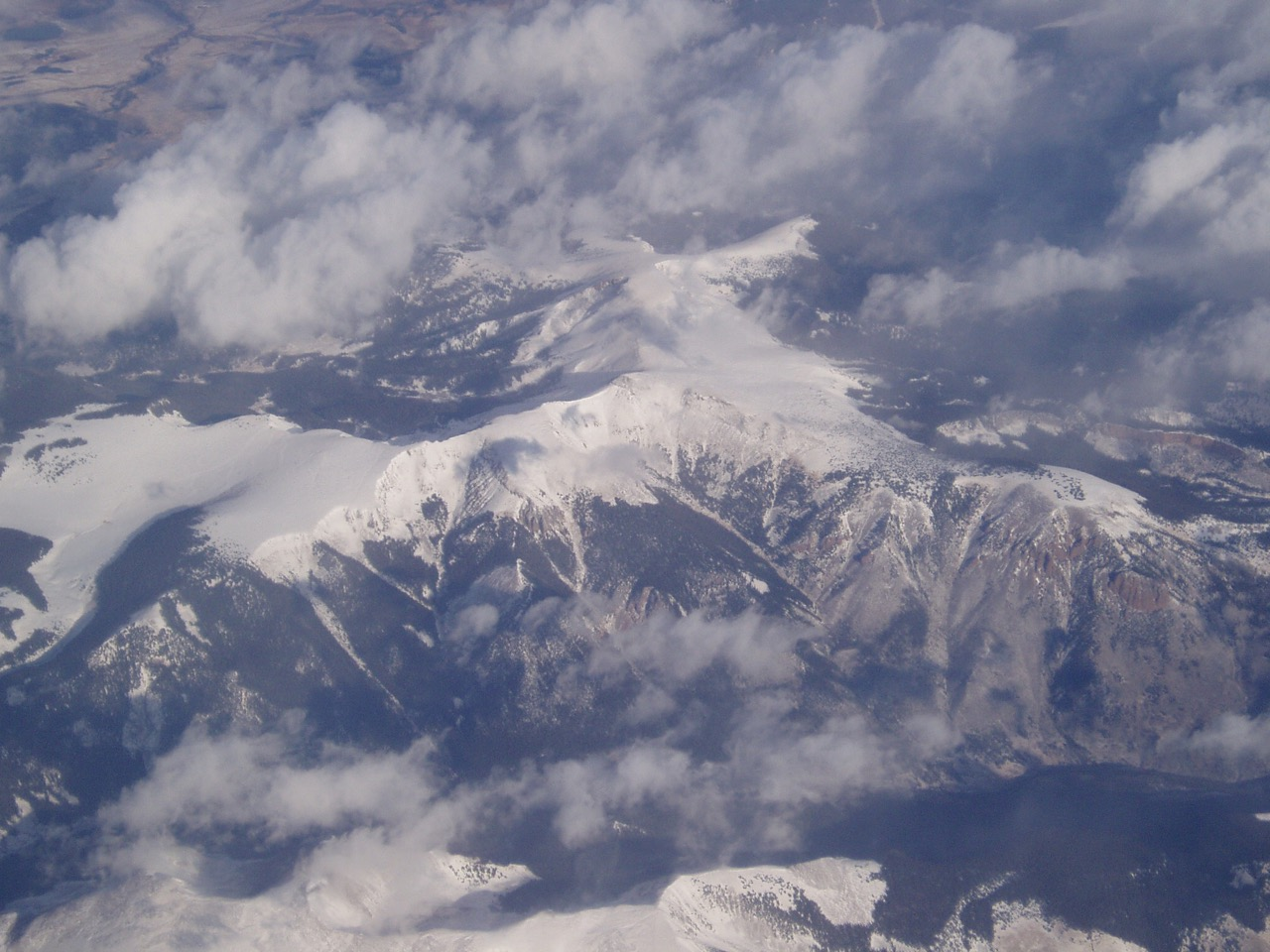 Honeymoon Flight to California Mountains