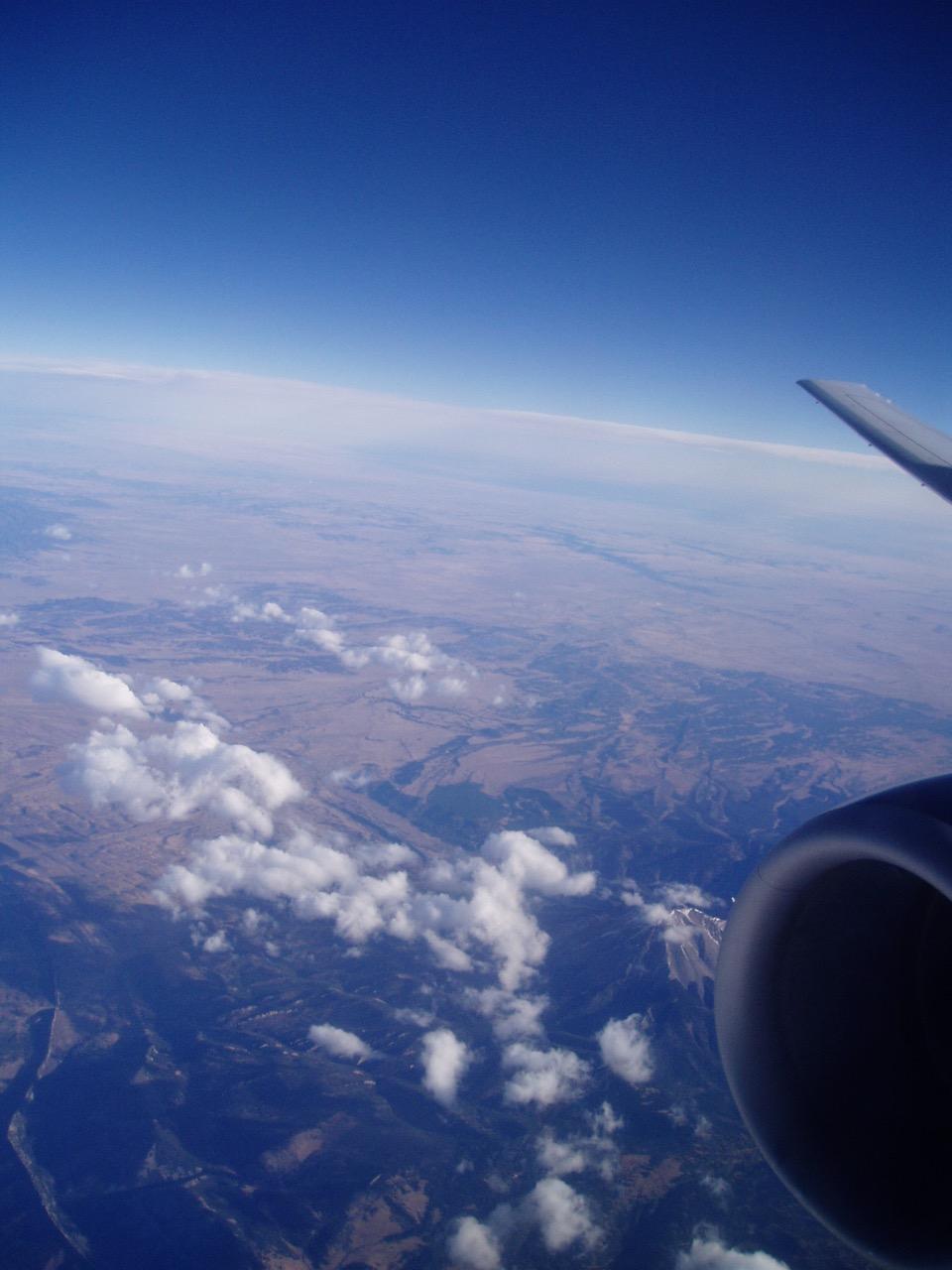 Honeymoon Flight to California Window