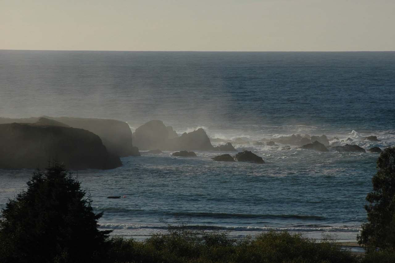 Pacific Ocean Waves & Skyline