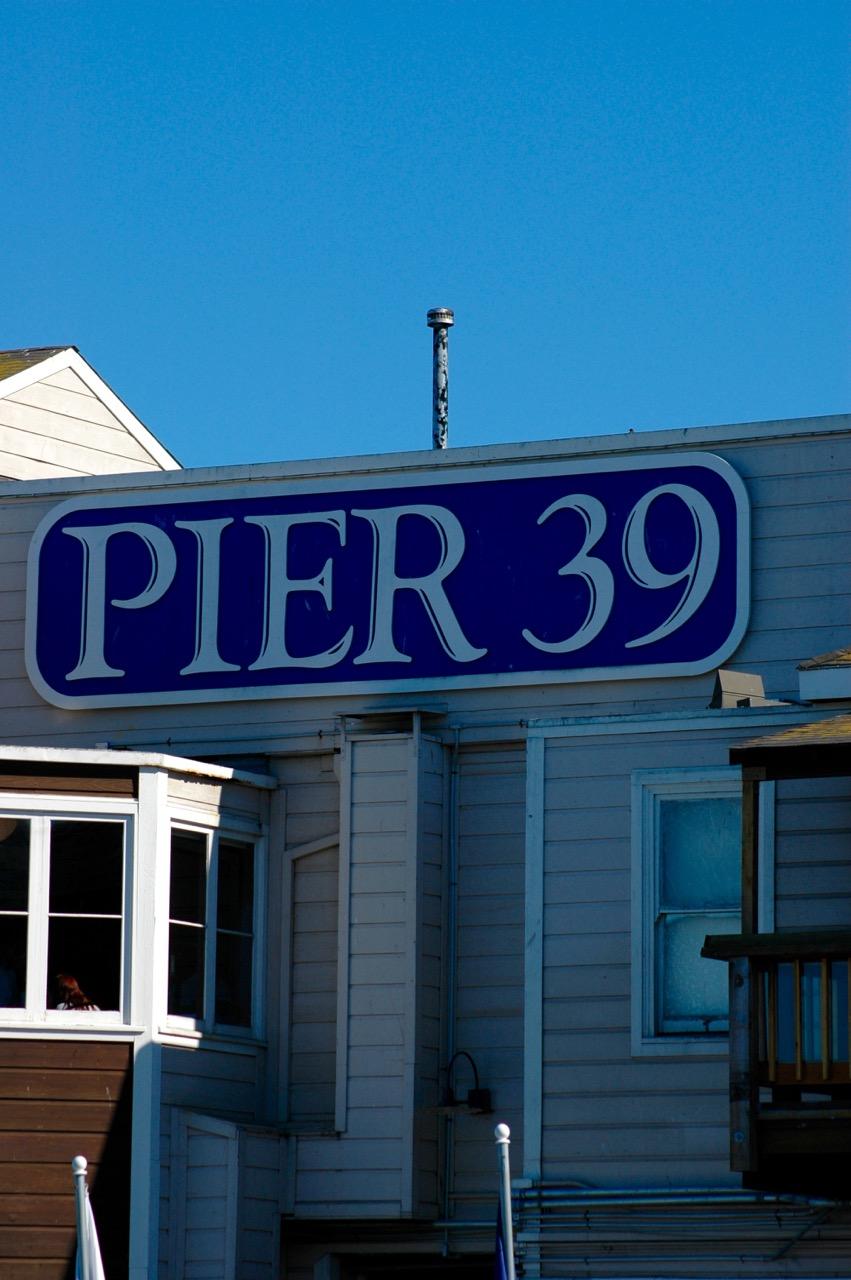 Pier 39 Sign Fisherman's Wharf San Francisco CA
