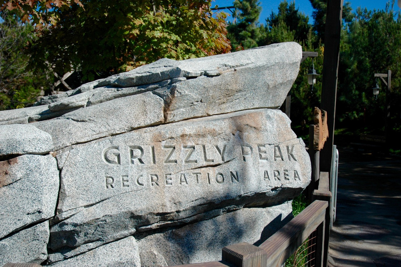 Grizzly Peak Sign Disney's California Adventure Park