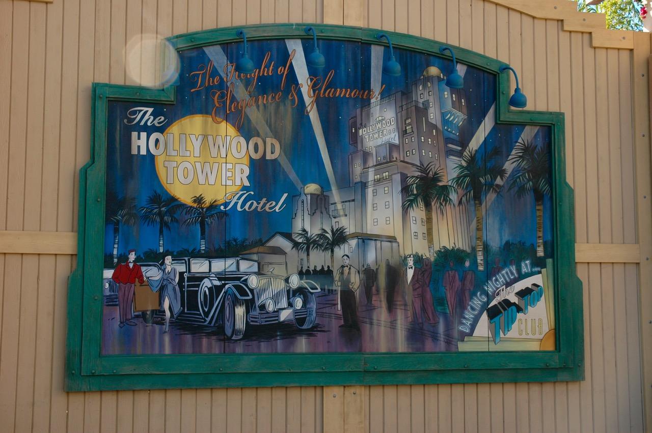 Hollywood Tower Sign Disney's California Adventure Park