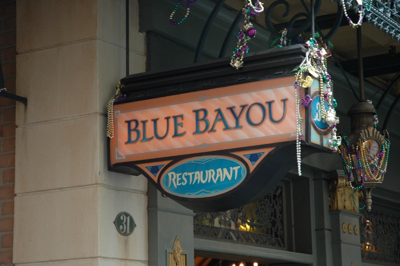 Blue Bayou Restaurant Disneyland Park