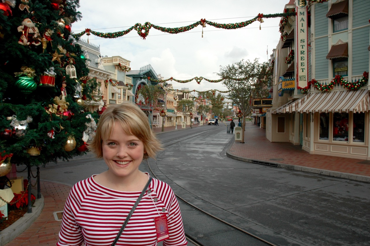 Disneyland Town Square Christmas