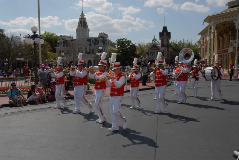 Magic Kingdom band prior to the parade