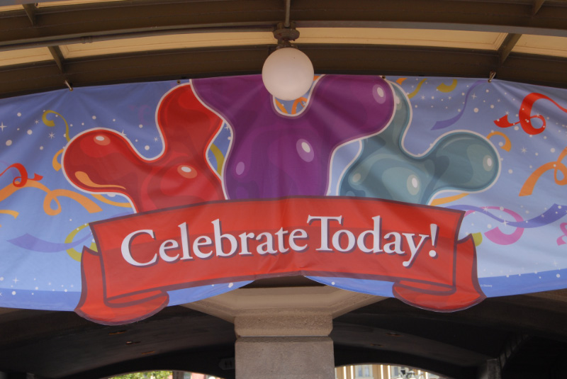 Celebrate Today sign