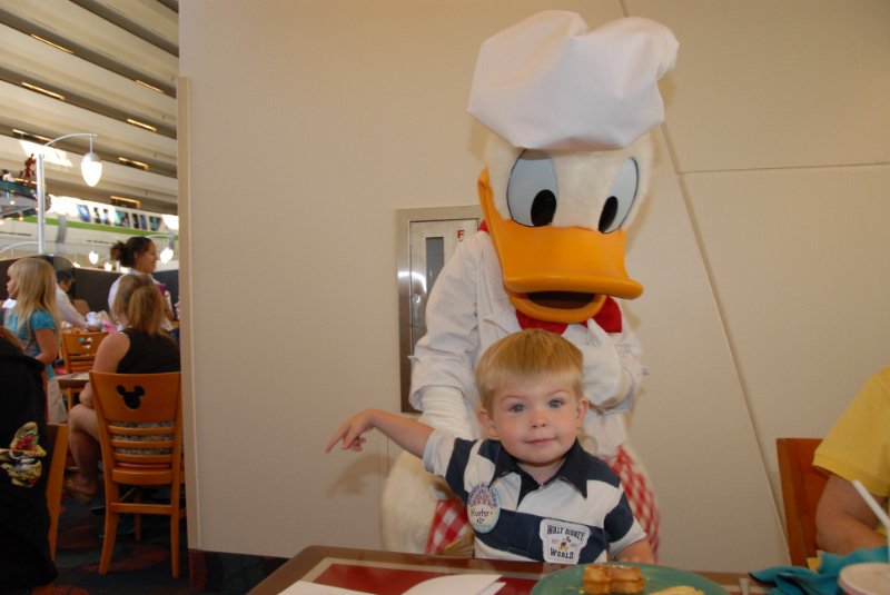 Donald Duck and Hunter
