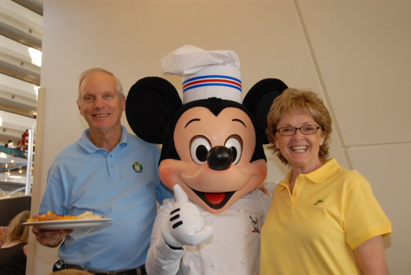 Colonel, Kee and Mickey Mouse