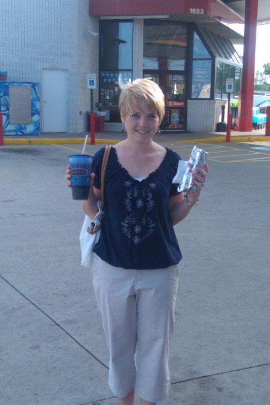 Emily at Sheetz gas station